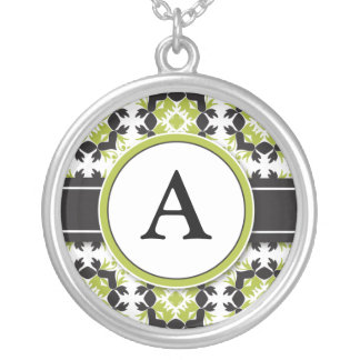 Bridal Party Gift - Monogram Pendant (lime)