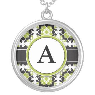 Bridal Party Gift - Monogram Pendant lime