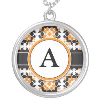 Bridal Party Gift - Monogram Pendant orange