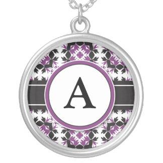 Bridal Party Gift - Monogram Pendant purple