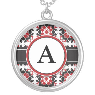 Bridal Party Gift - Monogram Pendant red