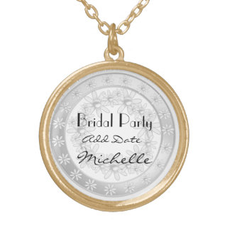 Bridal Party Gold Necklace For Bridal Party Gift