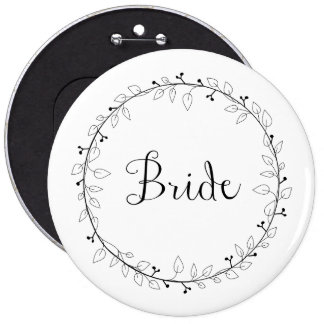 Bridal party identification Bride 6 Cm Round Badge