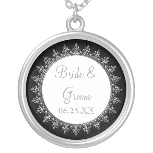 Bridal Party Jewelry Classic Baroque Swirl Circle