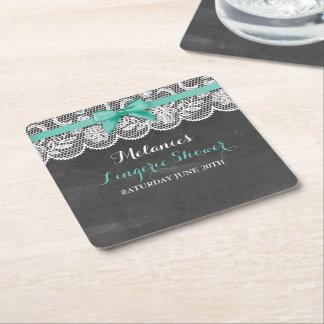 Bridal Party Lingerie Shower Lace Coasters Mats