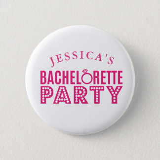 Bridal Party Pink Bachelorette Party Badges Pin