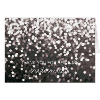 Bridal Party Thank You Card - Sparkling Black