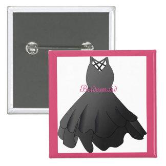Bridal Party Wedding Dress Pin Bridesmaid Button