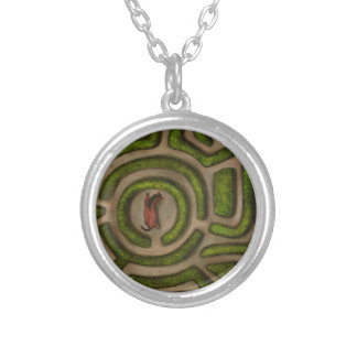 Bridal Path Round Pendant Necklace
