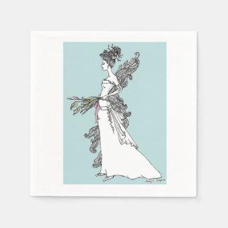 Bridal Princess Napkins Paper Napkin