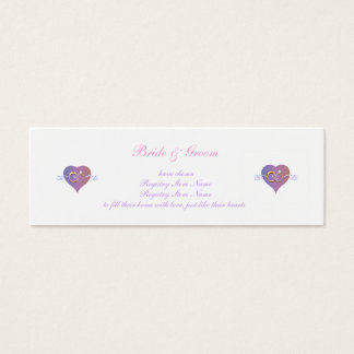 Bridal Registry Profile Card
