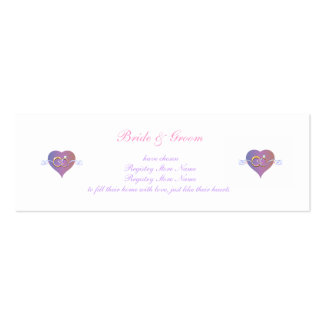 Bridal Registry Profile Card Pack Of Skinny Business Cards