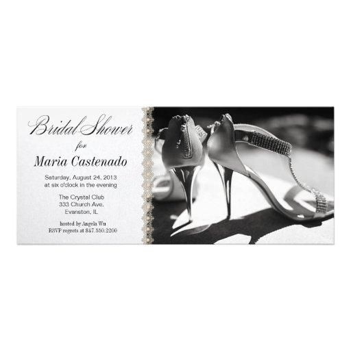 bridal shoes bridal shower invitation