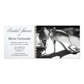 "bridal shoes bridal shower invitation 4"" x 9.25"" invitation card"
