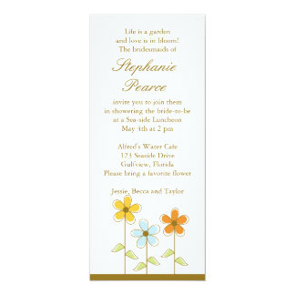 Bridal Shower 10 Cm X 24 Cm Invitation Card