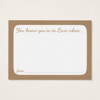 Bridal Shower Advice Cards