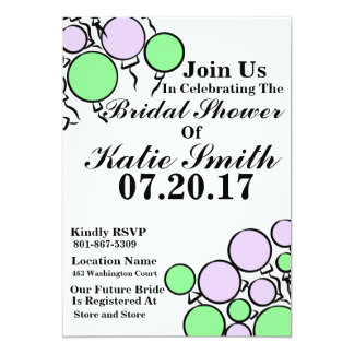 Bridal Shower Balloon Invitation