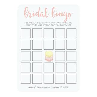 Bridal Shower Bingo Game Card   French Macarons
