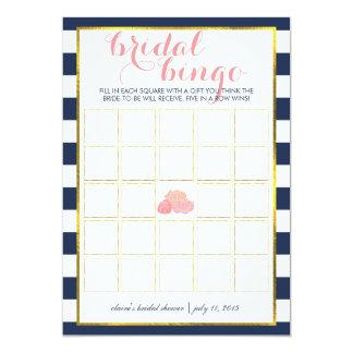 Bridal Shower Bingo Game Card | Midnight Peony