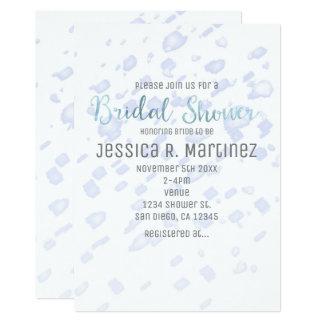 Bridal Shower Blue Rain Watercolor Invitations