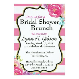 Bridal Shower Brunch Card