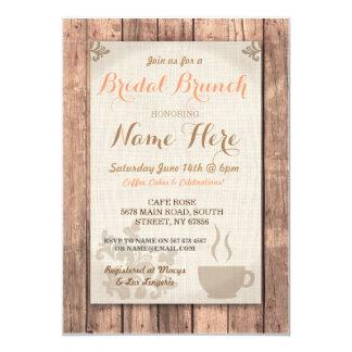 Bridal Shower Brunch Friends Coffee Rustic Invite