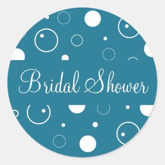 Bridal Shower Bubbles Envelope Sticker Seal