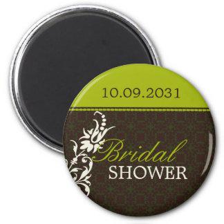 Bridal shower button 6 cm round magnet