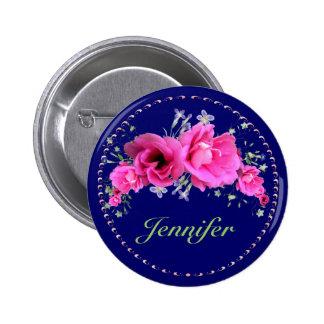 Bridal Shower Buttons Pink Bouquet