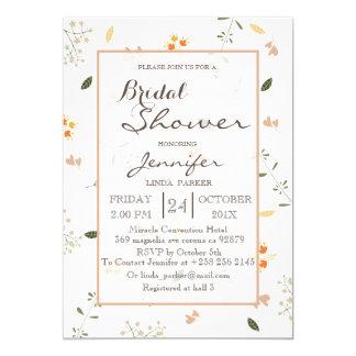 Bridal Shower Card flowers minimalist.
