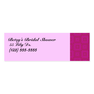 Bridal Shower Card Pack Of Skinny Business Cards
