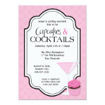 Bridal Shower Cupcakes and Cocktails Personalised Invite