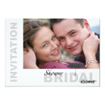Bridal Shower - Custom Photo B&W Invitatation 13 Cm X 18 Cm Invitation Card