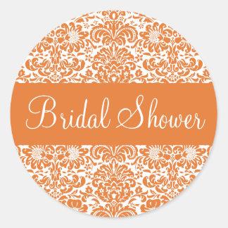 Bridal Shower Damask Envelope Sticker Seal