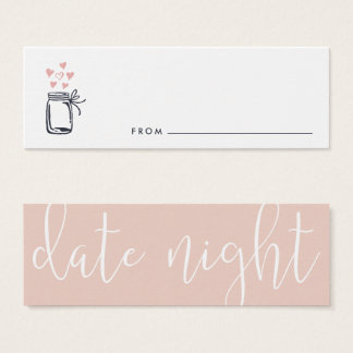 Bridal Shower Date Night Jar Cards