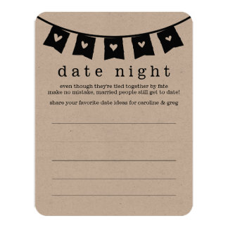 Bridal Shower Date Night & Vacation Idea Cards 11 Cm X 14 Cm Invitation Card