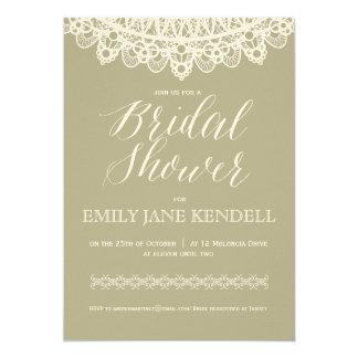 Bridal Shower Doilies Lace White Invitation