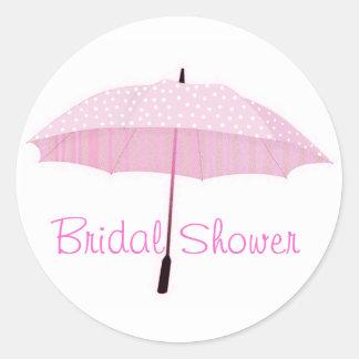 Bridal shower envelope seal round sticker