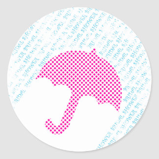 Bridal Shower Envelope Seal Sticker Hot Pink Polka