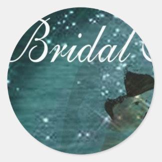 Bridal Shower Envelope Seals Round Sticker