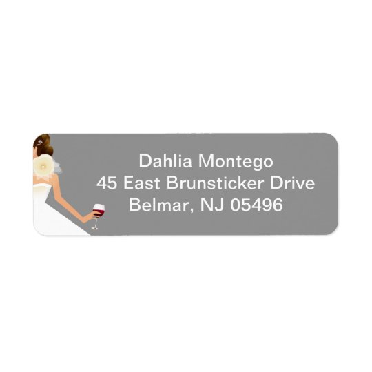 Bridal Shower Esemble Return Address Label