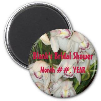 Bridal Shower favor - magnet; personalize 6 Cm Round Magnet