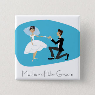 Bridal Shower Favor-Mother of the Groom 15 Cm Square Badge