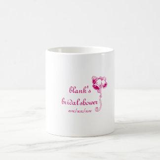 bridal shower favor mug - personalize name, date