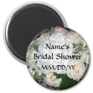 Bridal Shower favor - personalize date and name 6 Cm Round Magnet