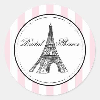 Bridal Shower Favor Sticker   Paris France Theme