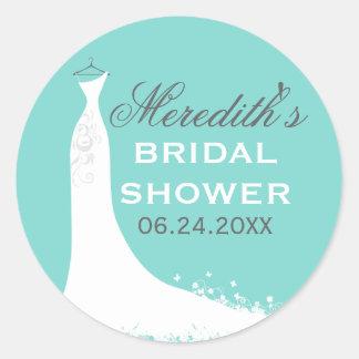 Bridal Shower Favor Sticker | Wedding Gown