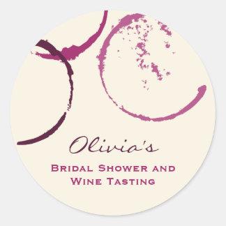 Bridal Shower Favor Sticker | Wine Theme