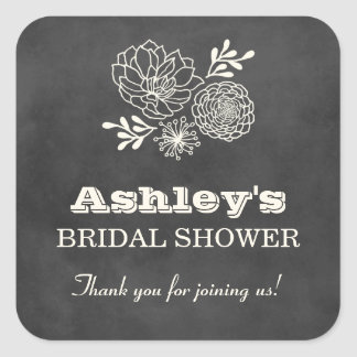 Bridal Shower Favor Stickers | Vintage Chalkboard