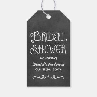 Bridal Shower Favor Tag | Black Chalkboard Charm